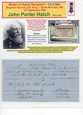 Medal of Honor Recipient~ Civil War ~ John Porter Hatch ~ So. Mountain, MD ~ DS