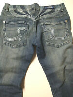 Rock And Republic Womens  28 Flare Bootcut Embroidered Jeans Victoria Beckham