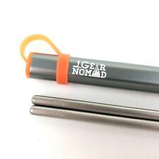 Titanium Chopsticks with Aluminum Carrying Case Gear Nomad