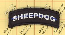 SHEEPDOG THIN BLUE LINE Police SWAT Morale Patch TACTICAL COMBAT USA MILITARY