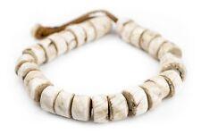 Cylindrical Naga Conch Shell Beads 16mm Nepal White Cylinder Large Hole