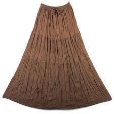 Bohemian Tier Long Skirt Boho Hippy Hippie Gypsy Brown XS-XL sk167b