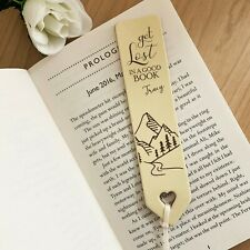 Quality English Leather Bookmark Personalised Any Name Gift for Women Men L1885