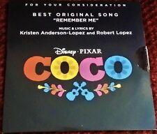 COCO FYC Best Original Song Remember Me 4 Tracks Promo Oscar Winner