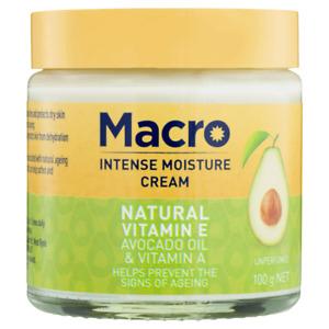 Macro Intense Moisture Cream 100g Natural Vitamin E, Avocado Oil & Vitamin A
