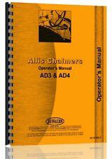 Allis Chalmers AD3 AD4 Motor Grader Operators Manual (AC-O-AD3 4)