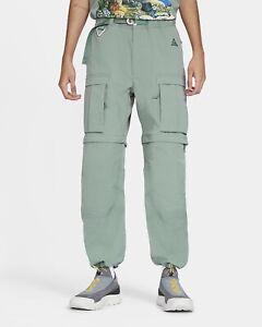 Nike ACG Smith Summit Convertible Cargo Pants Clay Green CV0655-365 Men's Size M