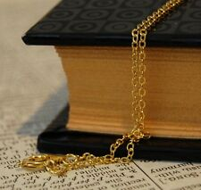 5 x brass necklaces gold chains 18 inches 45cm  ready to wear necklace