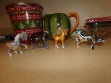 Vintage 1994 Kenner LPS Littlest Pet Shop Lot of 4 Jewel Horses & 3 Saddles.