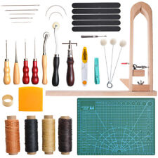 33Pc Leather Working Tools including Wood Stitching Pony Leather Sewing Tools