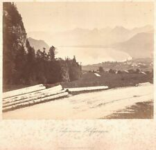 Foto St. Gilgen Wolfgangsee Baldi & Würthle Salzburg 24 x 18,5cm um 1880