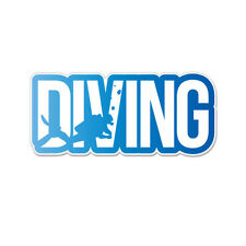 "Scuba Diving Diver Vinyl Car Sticker Decal 6"" x 2"""