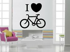 Wall Stickers Vinyl Decal Sport Bike Love Cycling ig256