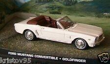 FORD MUSTANG CONVERTIBLE GOLDFINGER 1/43 JAMES BOND 007