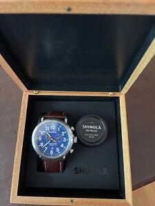 Shinola Runwell Argonite 5021 Chronograph 47mm Stainless Steel Quartz Wristwatch