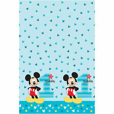 """Disney Mickey Mouse 1st / First Birthday Table Cover *New Design* 54"""" x 96"""""""