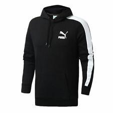 Puma Mens T7 Hoodie Casual Taped Black Jumper 595922 01