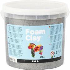 Creativ Foam Clay® METALLIC SILVER - 560g Bucket Self-Hardening Modelling Clay
