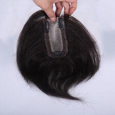 "2.16""X4.3"" 100% human hair replacement system top piece wiglet for women men 8"""