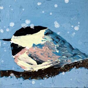 Chickadee Bird Animal Art Painting Katie Jeanne Wood