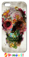 Funda Dibujo Calavera de Flores Para Apple iPhone 6 de 4,7 Pulgadas España