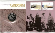 2013 CENTENARY OF CANBERRA STAMP FIRST DAY COVER 2Oc COIN PNC