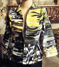 Stunning Laura Max Nordstrom Yellow, Black& White Jacket. Sz.Medium EUC