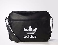 Adidas Originals Classic Airliner Shoulder Messenger Bag Black -- AJ8203