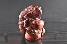 Red Jasper Lizard Carving by Ronald Stevens Thailand 124 Grams 5.9 cm 1055