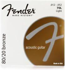 Fender Acoustic 70L Guitar Strings  Bronze12's 70 L Steel String Folk LIGHT
