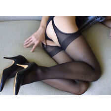 Sexy Women's Tights Crotchless Pantyhose Fancy Suspender Body Stockings Lingerie