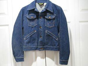 """NEW, Vintage WRANGLER """"No Fault"""" Mens Denim Jean Jacket size 38, USA made"""