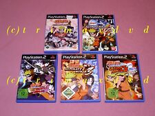 5x ps2 _ Naruto Ultimate Ninja 1 & 2 & 3 & Naruto Shippuden Ultimate Ninja 4 & 5