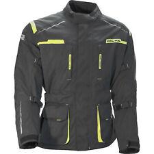 Richa Mens Axel Black Fluo Yellow Textile Waterproof Motorcycle Jacket New