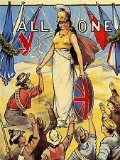 Propagande British Empire Commonwealth BRITANNIA UK POSTER ART PRINT lv6956