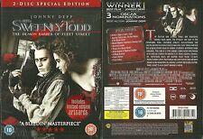 DVD - SWEENEY TODD DEMON BARBER avec JOHNNY DEPP / HORROR - COLLECTOR 2 DVD