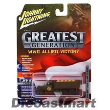 JOHNNY LIGHTNING 1:64 WWII ALLIED VICTORY GMC CCKW 2 1/2 TON TRUCK DIRTY VERSION