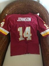 WASHINGTONG RED SKINS  ADIDAS BRAD  JOHNSON #14 FOOTBALL JERSEY SIZE L 14-16