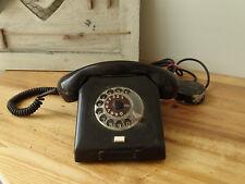 N3208 Ancien Téléphone avec Cadran - Bakélite - W63a -
