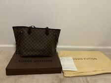 Louis Vuitton Neverfull MM Damier Ebene Canvas Hand Bag ❤️RECEIPT TO PROOF❤️