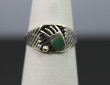 Native Style Sterling Silver Paw Print Ring