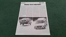 1982 SUBARU 1800 GL 4WD ESTATE AA TECHNICAL SERVICES ROAD TEST REPRINT BROCHURE