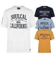 Mens SoulCal USA Short Sleeves Cotton Crew Neck T Shirt Sizes from S to XXL