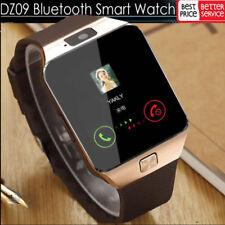 Für iOS Apple Android Bluetooth Armband Uhr + Kamera SIM Handy Smartwatch DZ09