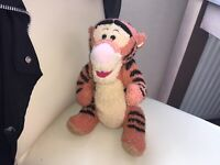 """DISNEY WINNIE THE POOH TIGGER 10"""" FULLY JOINTED SOFT TOY PLUSH"""