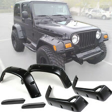 "For 1997-2006 Jeep Wrangler TJ BLK 6"" Pocket Rivet Style Fender Flares Protector"