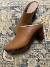 Madewell Barlow Leather Mule Sz 7 Caramel Slip On Shoe Beautiful