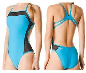 Speedo Endurance Turnz Mesh Flyback One Piece Swimsuit Mesh Size 10/36 New NWT