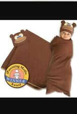 Sozo Baby Monkey Swaddle Blanket & Cap 0 - 6 Months Great Gift