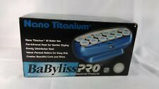 """BaByliss Pro Nano Titanium 12 Hot Rollers Hair Curlers Set Size 1 1/2"""""""